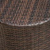 Overton Outdoor Wicker Barrel Side Table