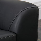 Barker Black Leather Club Chair