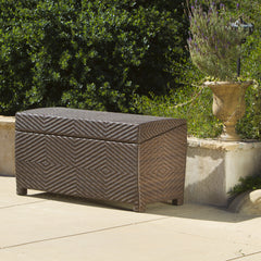 Landry Outdoor Brown Wicker Storage