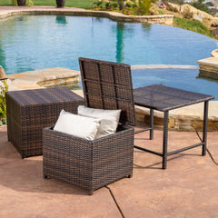 Eureka Outdoor 3pcs Wicker Table Set