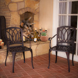 Miller Cast Aluminum Outdoor Dining Chairs (Set of 2)