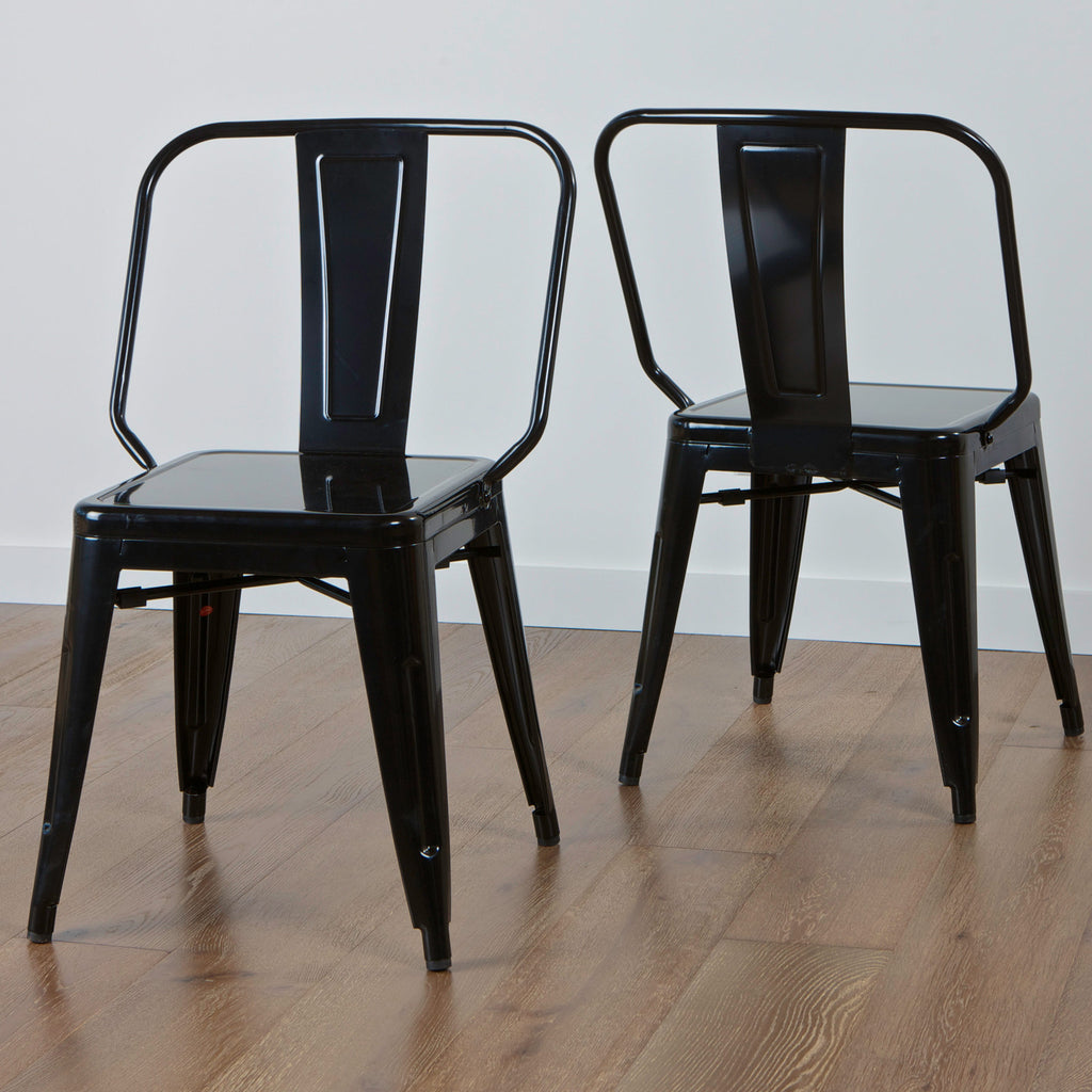 Benjamin Black Iron Chairs (Set of 2)