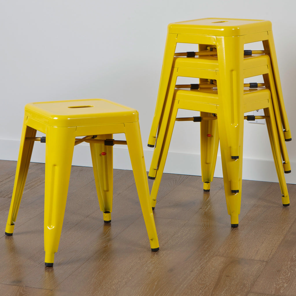 Hawthorne Yellow Iron Chairs (Set of 4)