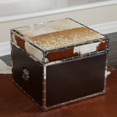 Arkansas Cowhide Storage Cube