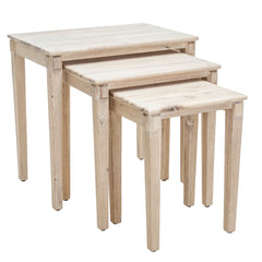 Alden Acacia Wood Nesting Tables (Set of 3)