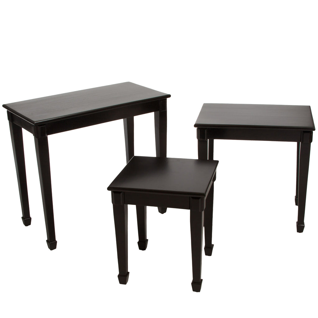 Douglas Acacia Wood Nesting Tables (Set of 3)