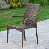Michael Outdoor Wicker Chair (Set of 2)