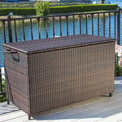 Freeport Brown Wicker Storage Bin