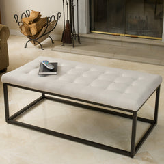 Edmond Fabric Bench Ottoman