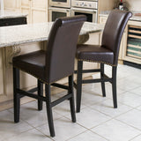 Clifton Brown Leather Bar Stool (Set of 2)