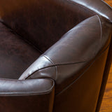 Bowman Brown Leather Club Chair