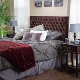Ludington Queen to Full Brown Suede Headboard