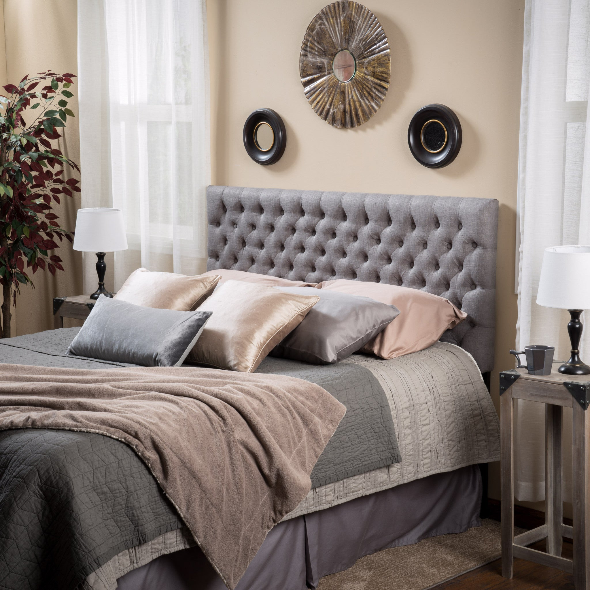 table top sets white shade dark comforter polyester brown panel bed frame covered headboard side twin bedroom glass gray distressed grey furniture lamp