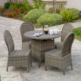 Bernard Outdoor Wicker 5pcs Dining Set