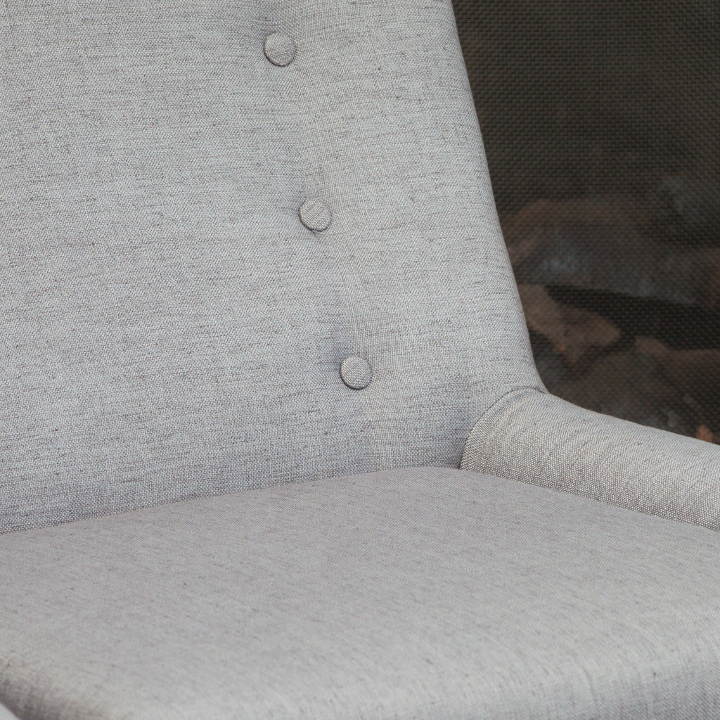 Brockston Light Grey Fabric Retro Accent Chair