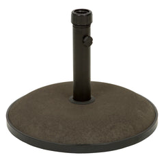 Gretna Round Brown Concrete Umbrella Base