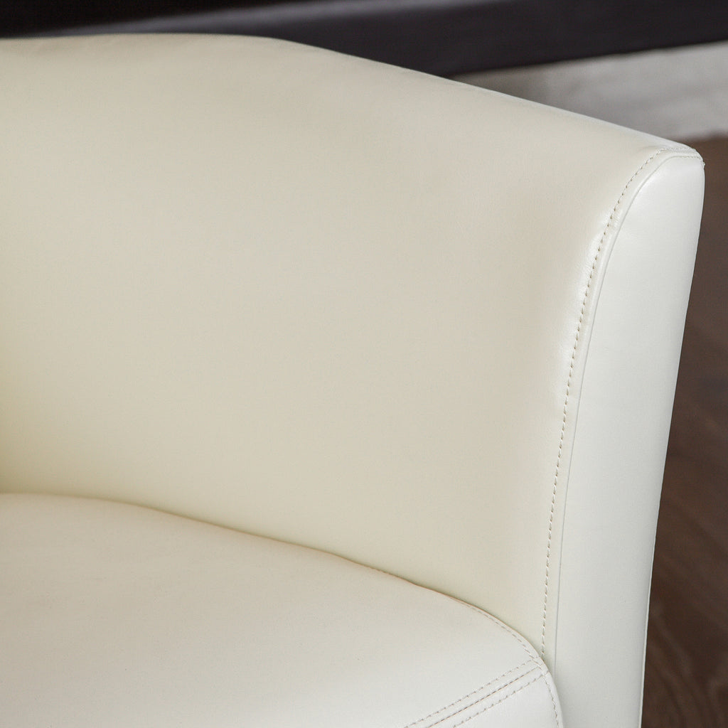 Pismo Ivory Leather Club Chair
