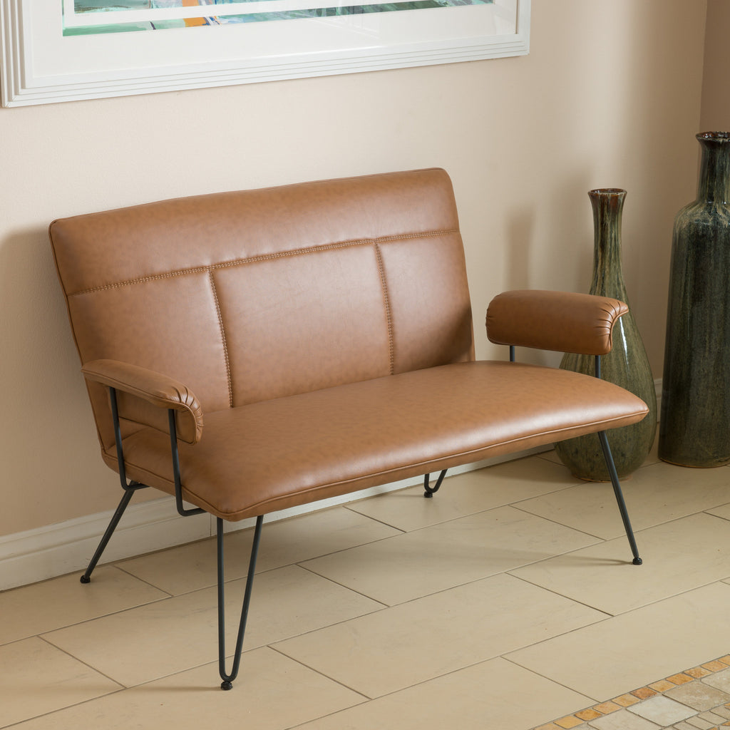 jade power tan console of freight furniture unclaimed flejadepcl picture products loveseat