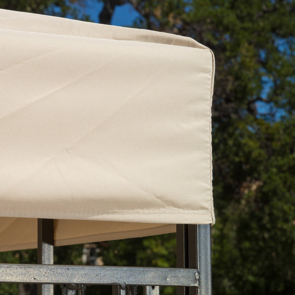 Manchester Outdoor Steel Gazebo Canopy w/ Tan Cover