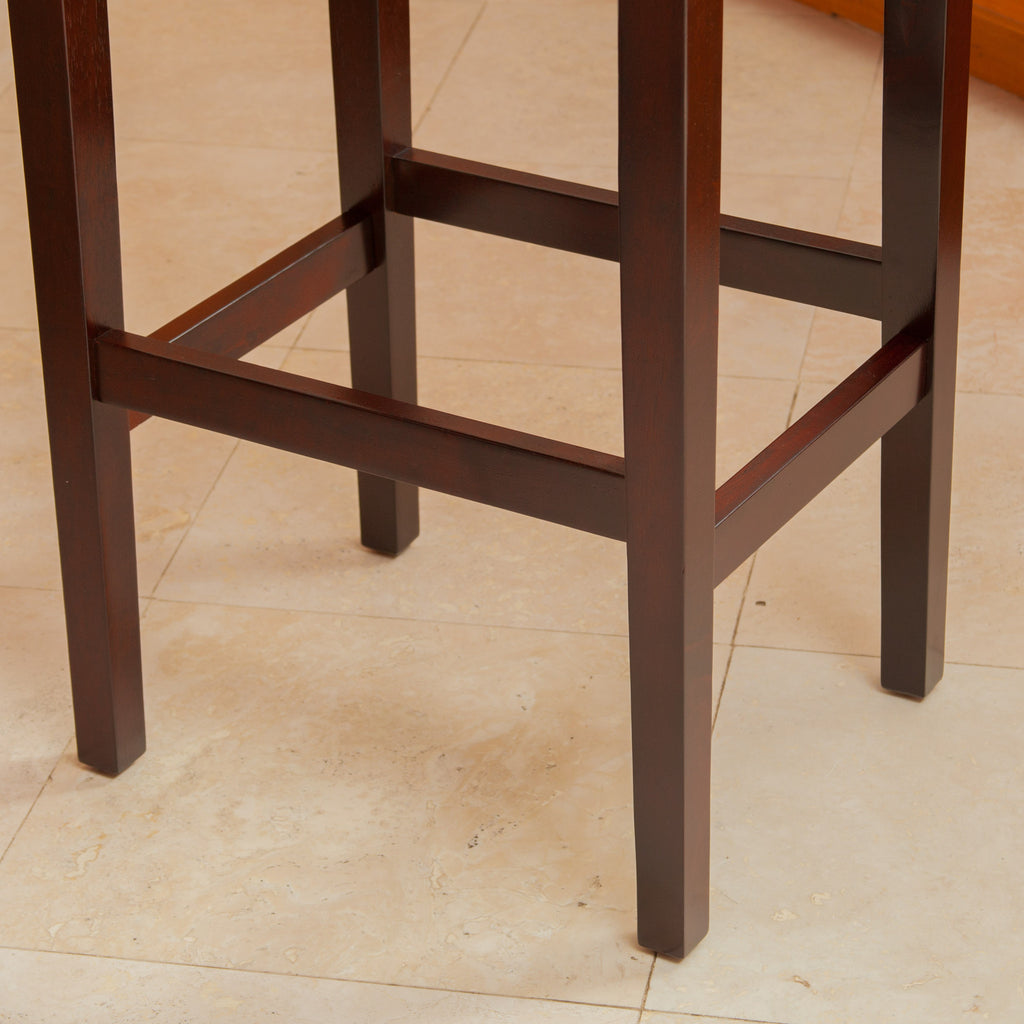 Duff Brown Leather Bar Stool (Set of 2)