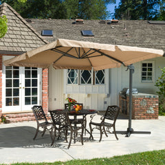 Adela Outdoor Cantilever Patio Canopy Umbrella & Base