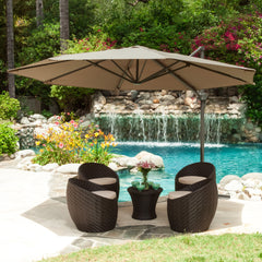 Alannah Outdoor Cantilever Patio Canopy Umbrella & Base