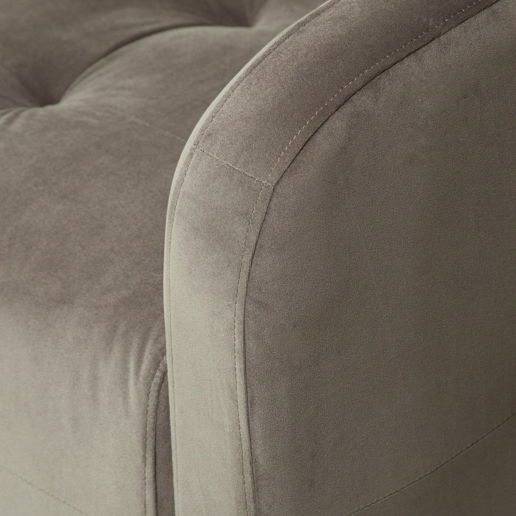 Bernhoft Swivel Grey Microfiber Fabric Armchair