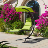 Avera Steel Green Hanging Lounge Chair