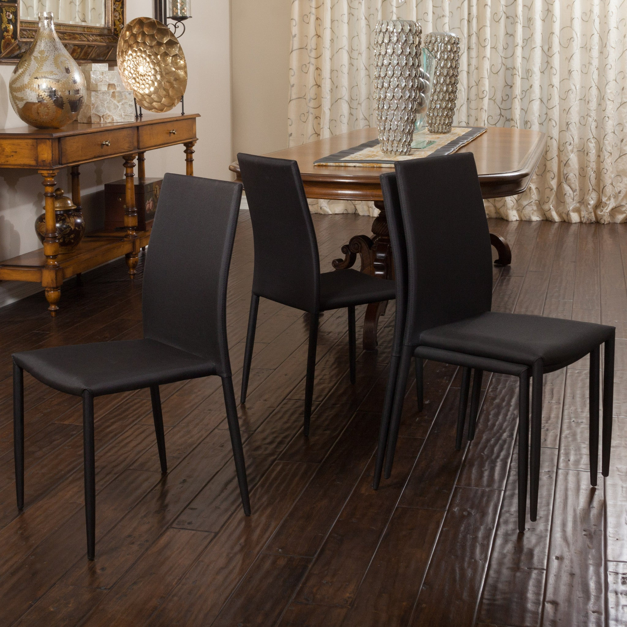 Baxley Black Fabric Dining Chairs Set Of Great Deal