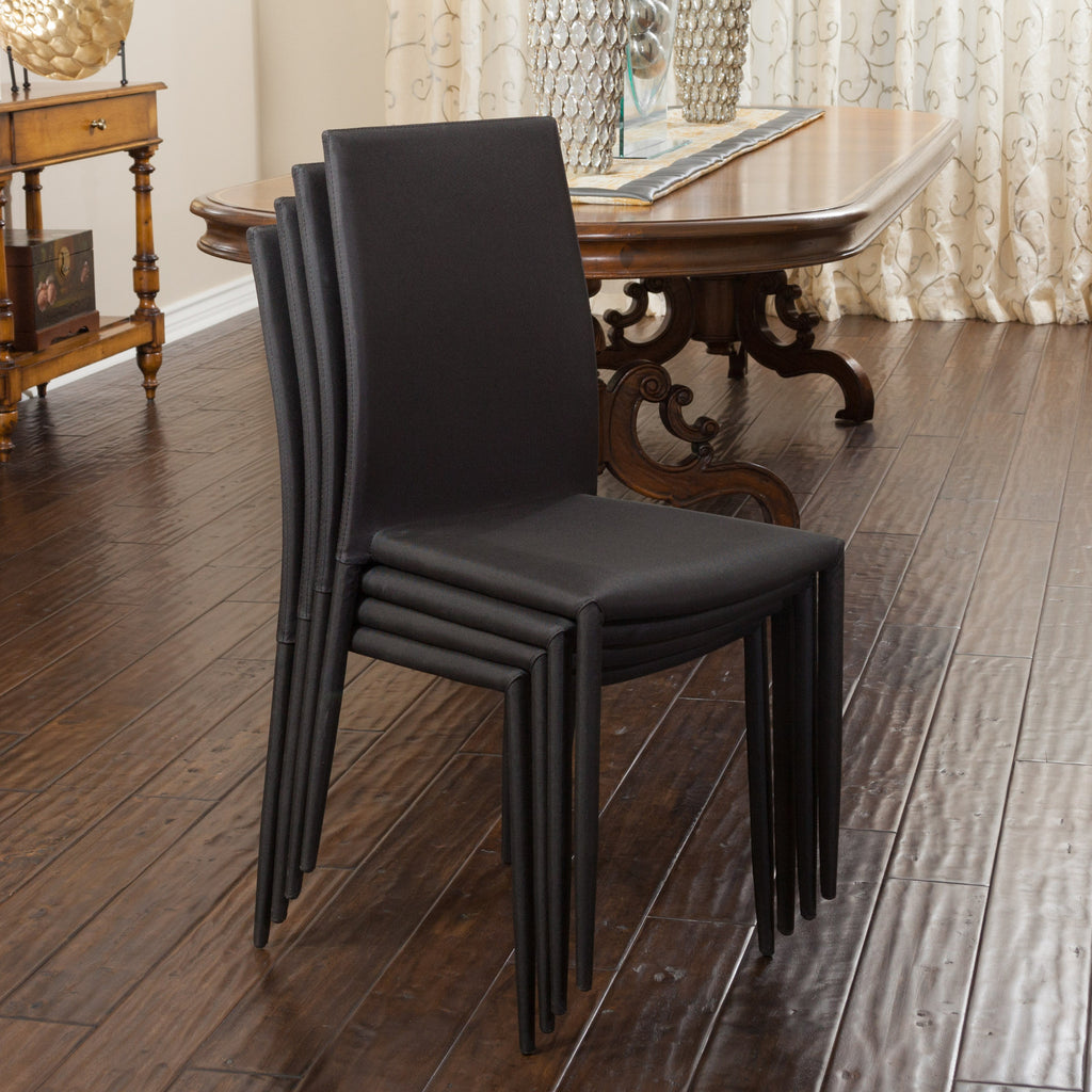 Baxley Black Fabric Dining Chairs (Set of 4)