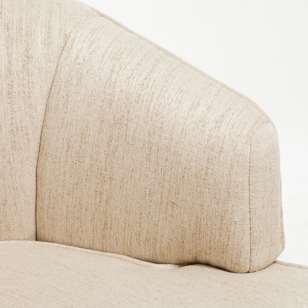 Camden Beige Fabric Accent Club Chair
