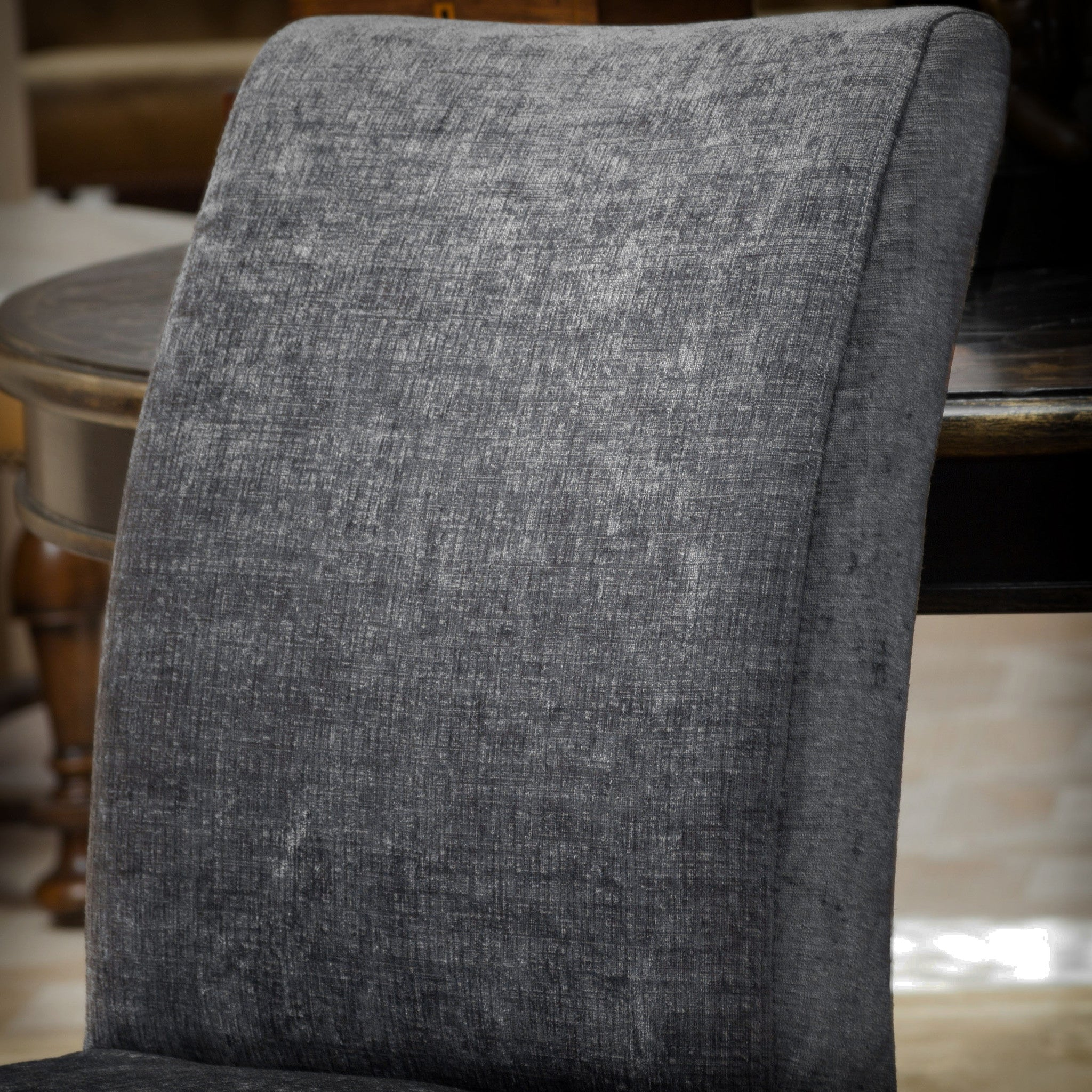 avery dark grey printed fabric dining chairs (set of ). avery dark grey printed fabric dining chairs (set of )  great