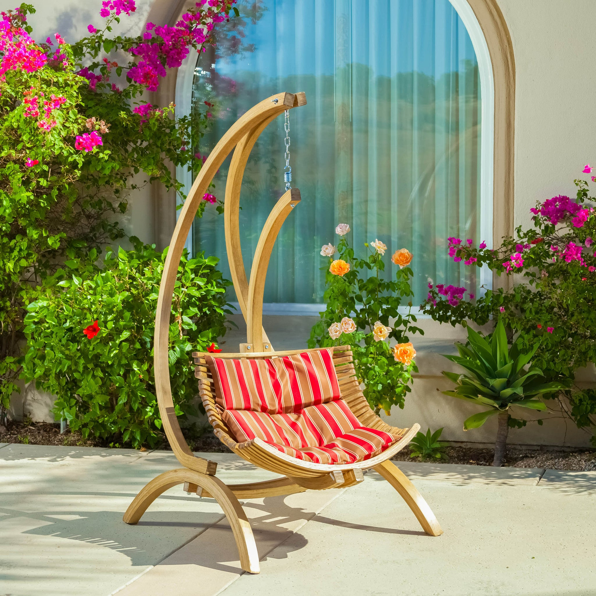 hammock chair hanging outdoor swinging with seater wooden armrest swing