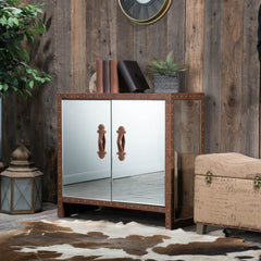 Adeline Mirror 2-Door Storage Cabinet Chest