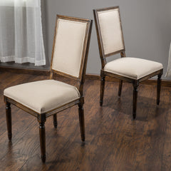(Set of 2) Allen Weathered Oak Dining Chair