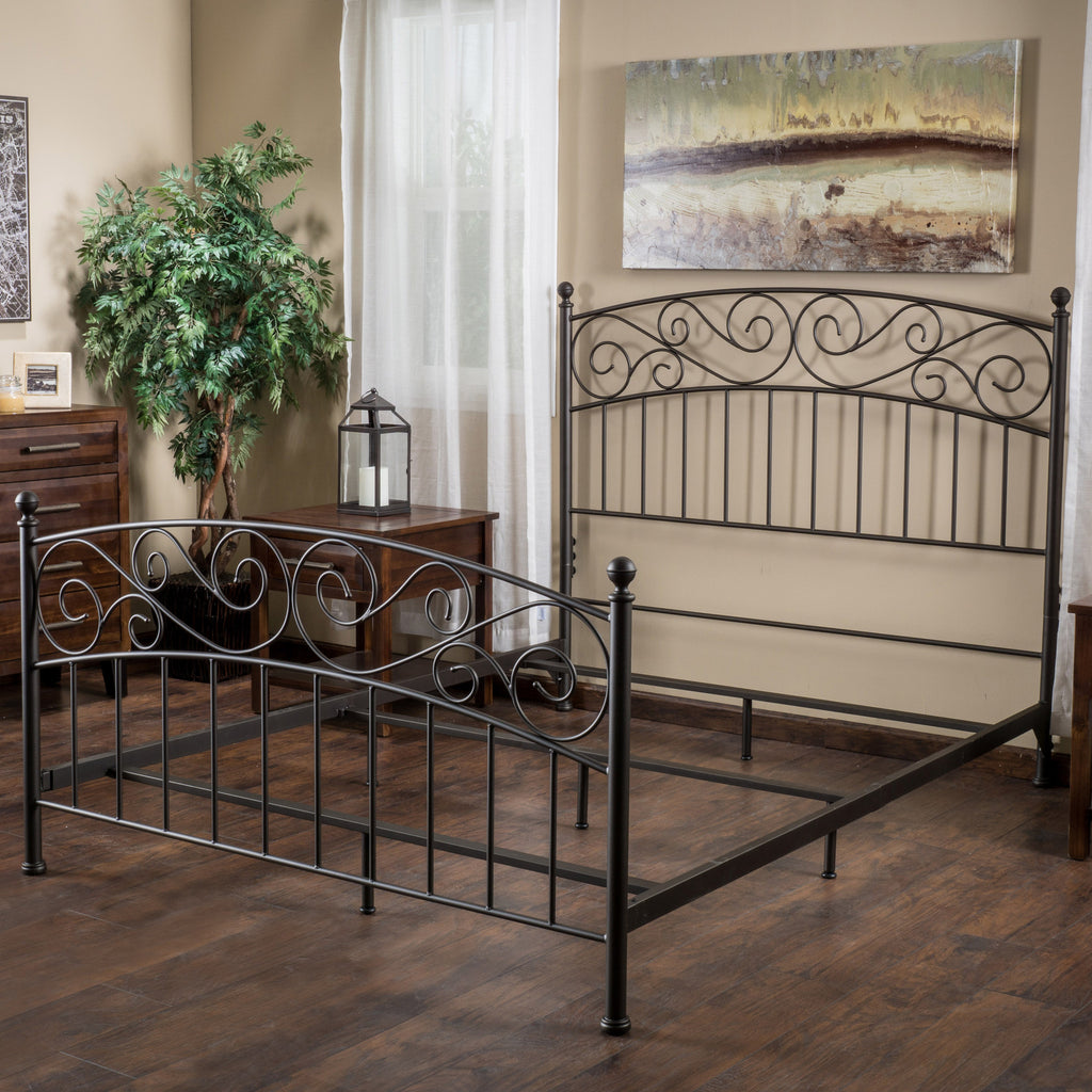 Cecelia Queen Dark Bronze Iron Bed