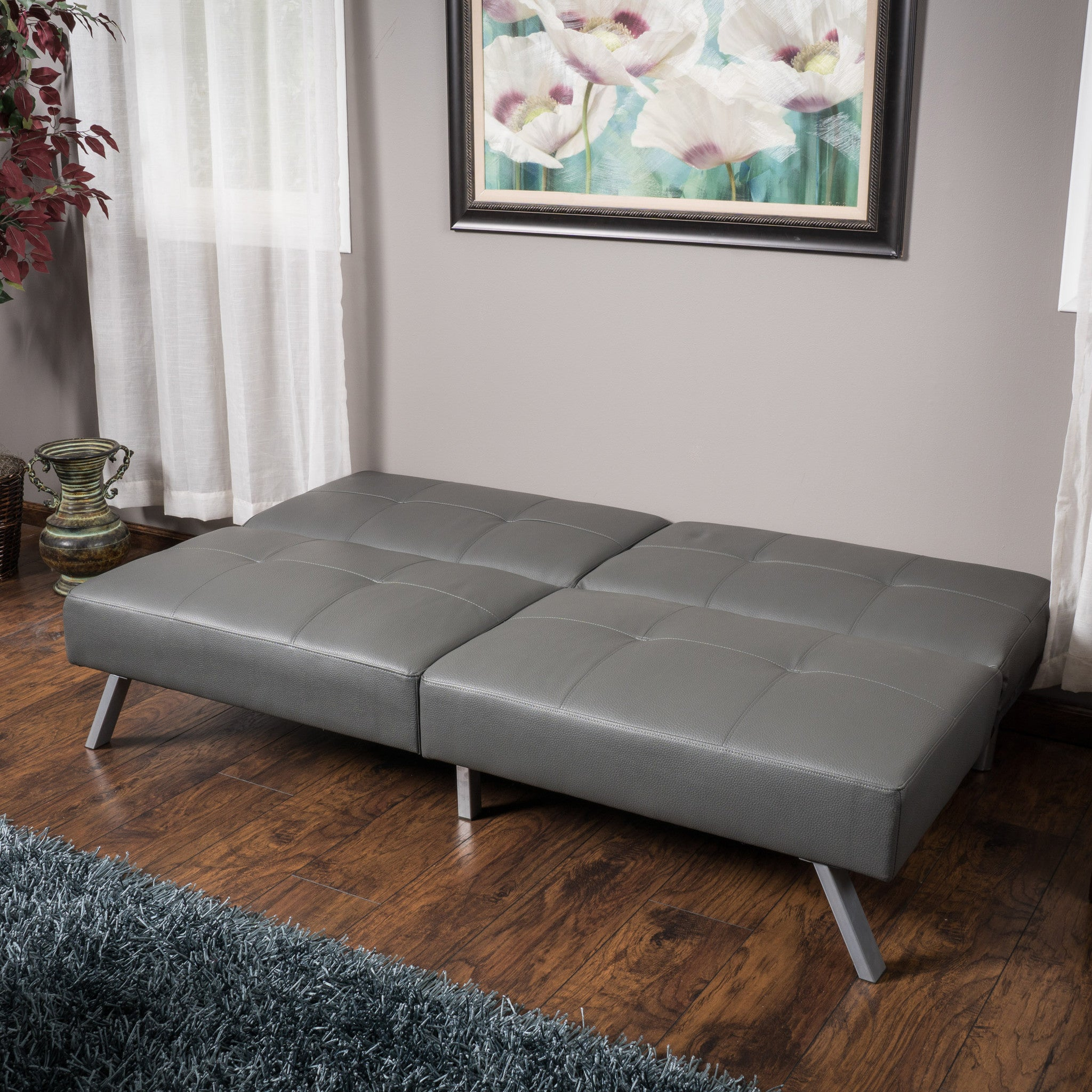 bed decor fastfurnishingscom faux futon trends click clack white color sofa home simple l leather