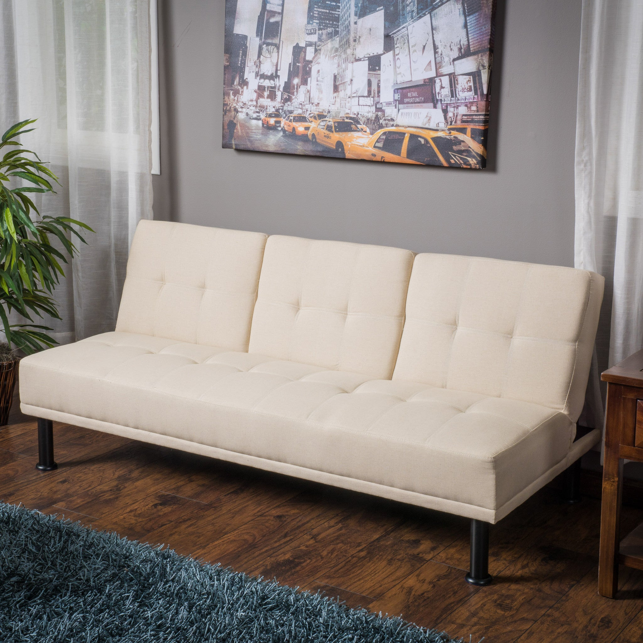 home monarch split ivory futon back image the of redesign different and sofa click leatherlook walmart for clack
