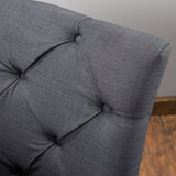 Anabella Black Fabric Tufted Sofa Chair