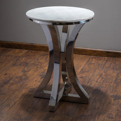 Chance Stainless Steel Marble End Table