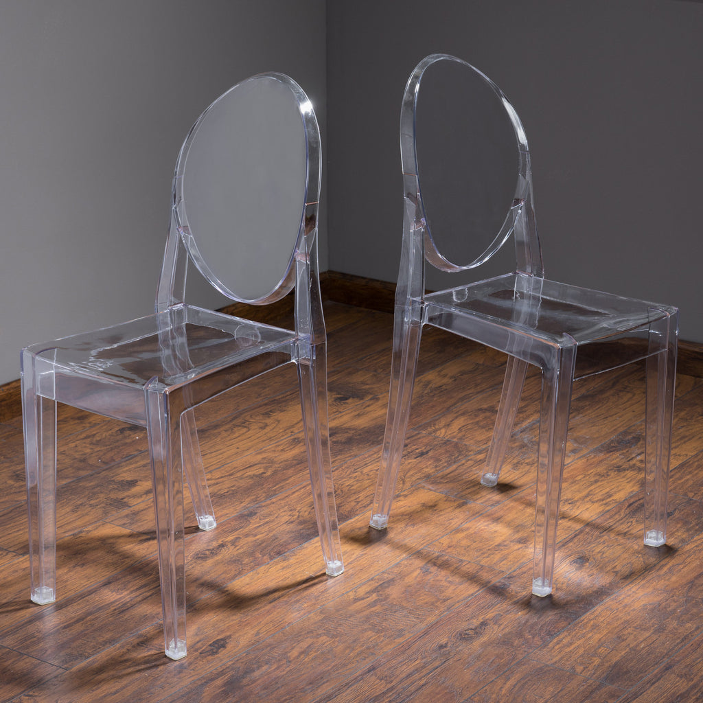 Cayden Transparent PC Ghost Accent Chairs (Set of 2)