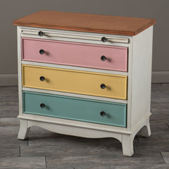 Artour Multicolor 3-Drawer Pull-out Shelf Wood Cabinet Dresser