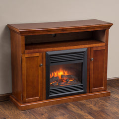 Dalen Electric Mahogany Fireplace Insert Mantel Media Console