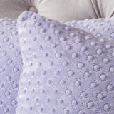 (Set of 2) Square Lavender Dimple Dot Pillow