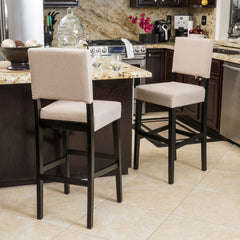 (Set of 2) Canal Tan Fabric Barstool