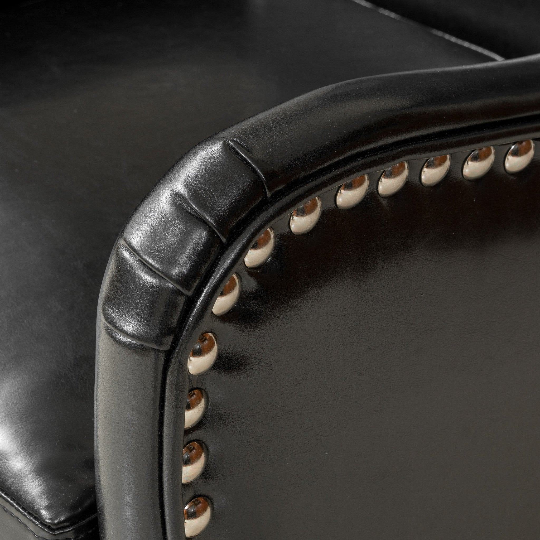 Brown Leather Studded Office Chair Home Office Chairs