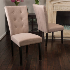 (Set of 2) Darrel Fabric Light Brown Dining Chair