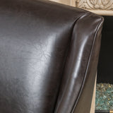 Calera Brown Leather Dining Chair