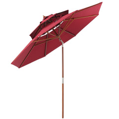 Jacob Outdoor 8.75-foot Burgundy Tilt Canopy Umbrella