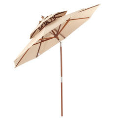 Jacob Outdoor 8.75-foot Khaki Brown Tilt Canopy Umbrella